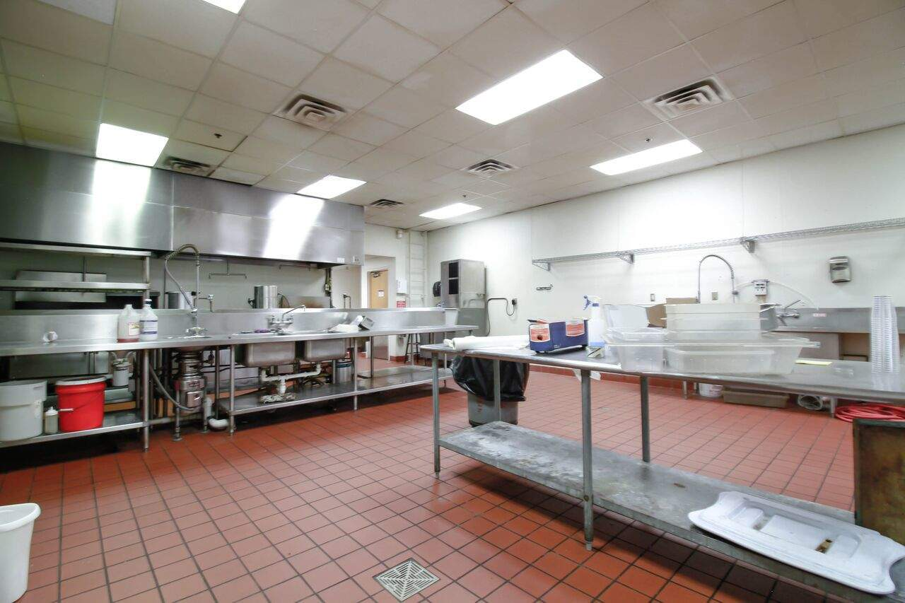 The building has a large commercial kitchen. We'll keep some of this space for cooking and serving, but some of it will be repurposed for needed student and classroom space.
