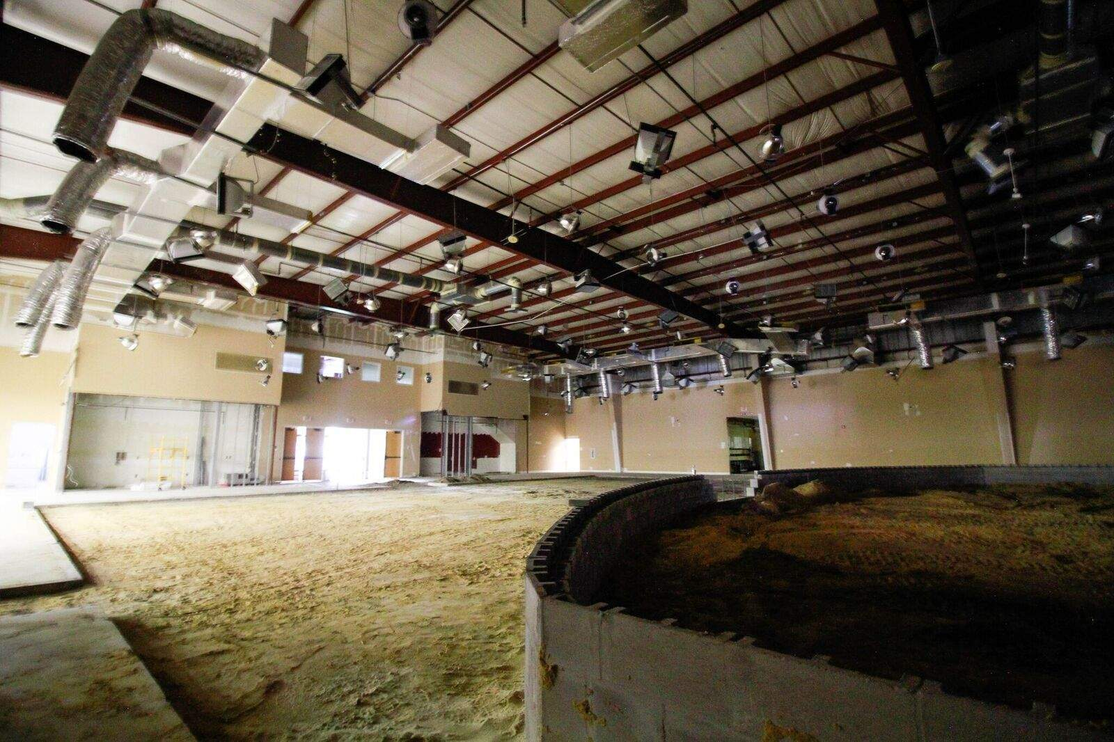 A view back into the auditorium from stage left. We drastically reduced the size of this room from its original scale — our vision remains focused on worshipping and serving in connected neighborhood communities.